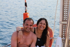 Sunil and Avanti both photogenic