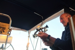 John gets to grips with the sextant